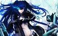 girl, weapons, anime, black rock shooter