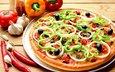 еда, вкусно, пицца, пища, чеснок, болгарский перец
