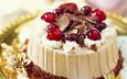 еда, вишня, торт