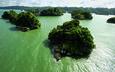 вода, зелень, суша, острова, материк
