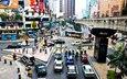 дорога, люди, город, машины, перекресток