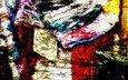 абстракция, текстура, стиль, винтаж, цвет
