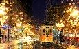 ночь, дождь, трамвай