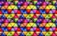 текстура, фон, узор, разноцветные, мозаика, стекло, треугольники, витраж