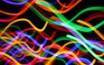 свет, огни, абстракция, линии, фон, лучи, цвет
