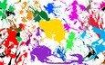 abstraction, texture, paint, color, rainbow, squirt, spot, watercolor, blot