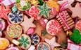 new year, christmas, sweet, cookies, cakes, glaze, xmas, decoration, merry