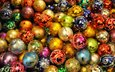new year, balls, colorful, holidays, christmas, christmas decorations, decorations