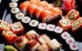 цветы, лимон, цветы, суши, роллы, японская кухня, имбирь, decorations, оформление, гщнннр