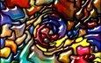 абстракт, абстракция, фон, краски, цвет, радуга, живопись, расцветка, витраж, красочная