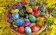 пасха, яйца, яркие, пасхальные, расписные
