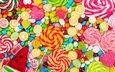 разноцветные, конфеты, сладости, красочные, десерт, леденцы, карамель, мармелад, драже
