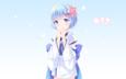 girl, anime, hair, kimono, rem, re: zero