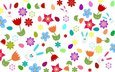flowers, wallpaper, rabbits, easter, eggs, bunnies