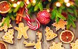new year, tree, needles, cinnamon, orange, christmas, cookies, cakes, lollipop