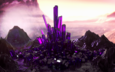 the crystals of glass mountain purple haze glow reflection cgi