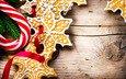 новый год, праздник, рождество, печенье, леденцы, угощения, ветки ели