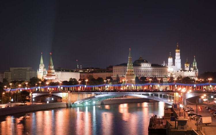 ночь, новый год, москва, кремль, россия, night, new year, moscow, the kremlin, russia