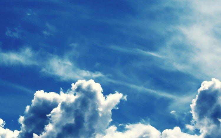 небо, облака, синий, the sky, clouds, blue