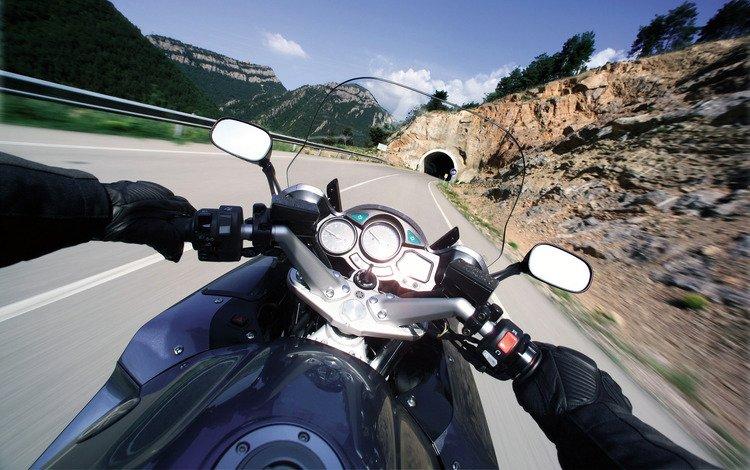 дорога, мотоцикл, тоннель, ямаха, road, motorcycle, the tunnel, yamaha