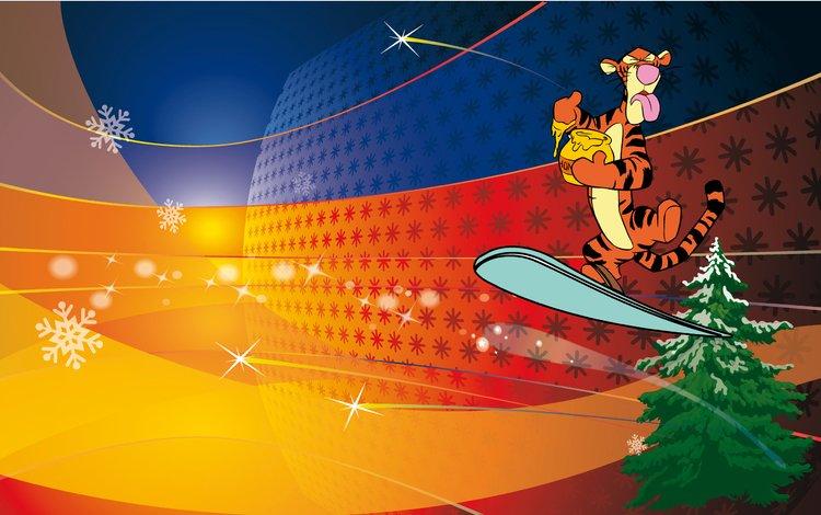 тигр, новый год, тигра, винни пух, tiger, new year, winnie the pooh
