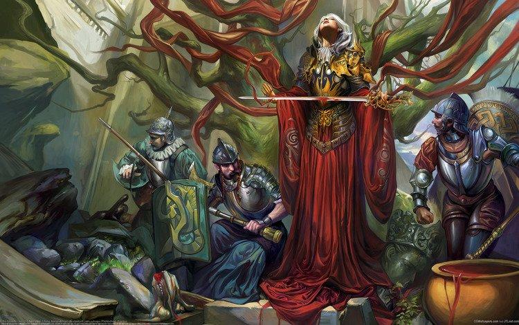 девушка, chen wei, воительница, щиты, меч, мушкет, кровь, girl, warrior, shields, sword, musket, blood