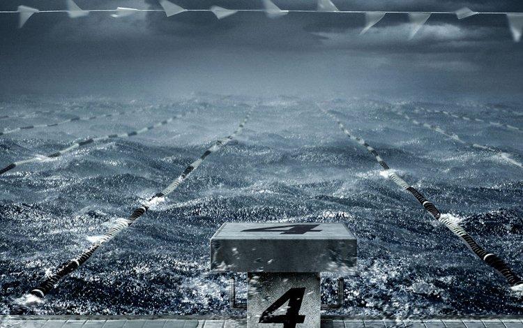 волны, бассейн, число, шторм, дорожки, wave, pool, the number, storm, track