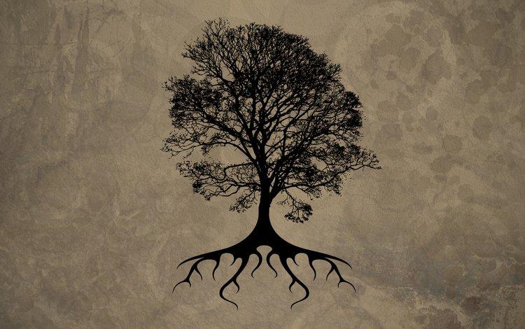 дерево, черный, лист, tree, black, sheet