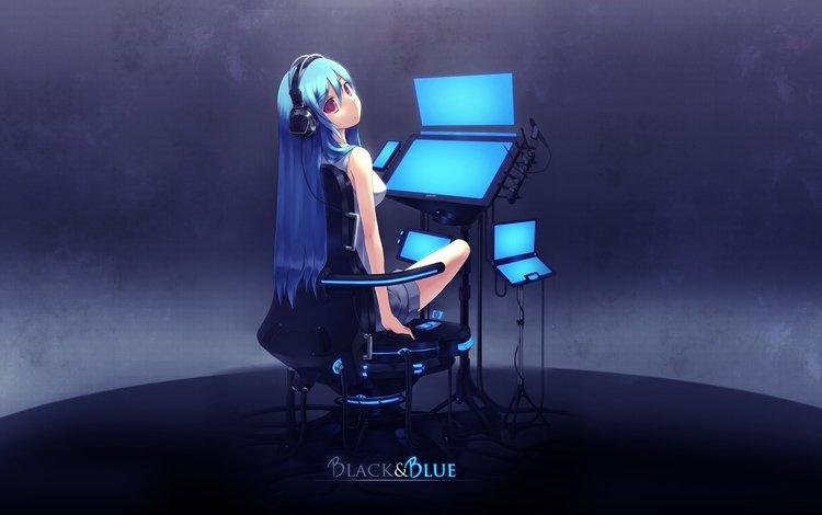 headphones, vocaloid, hatsune miku