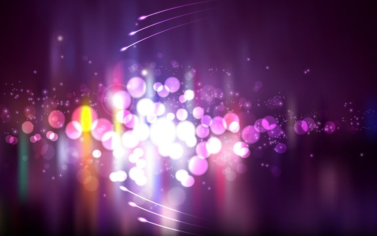 lights, purple, circles, bright