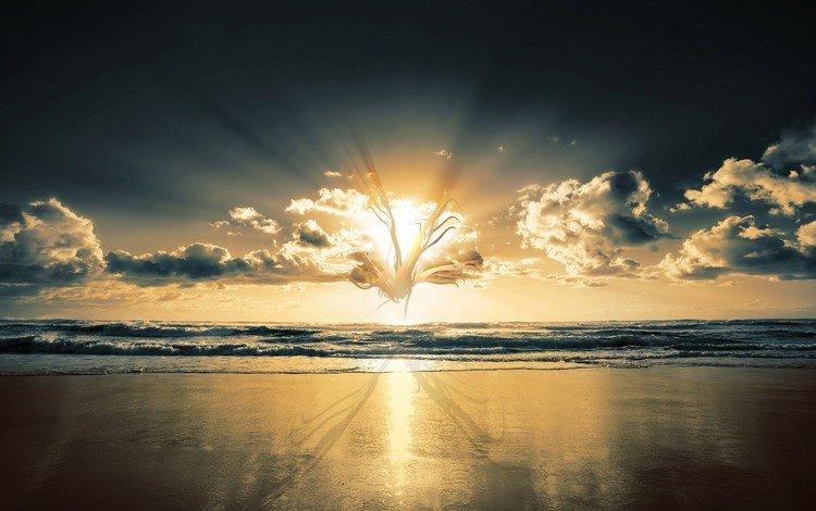 берег, волны, обработка, shore, wave, treatment