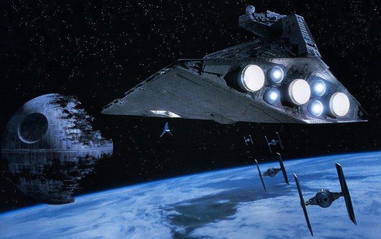 звездные войны, звезда смерти, космический корабль, звёздный разрушитель, star wars, the death star, spaceship, star destroyer