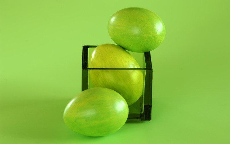 зелёный, пасха, яйца, стакан, яайца, green, easter, eggs, glass, aiza
