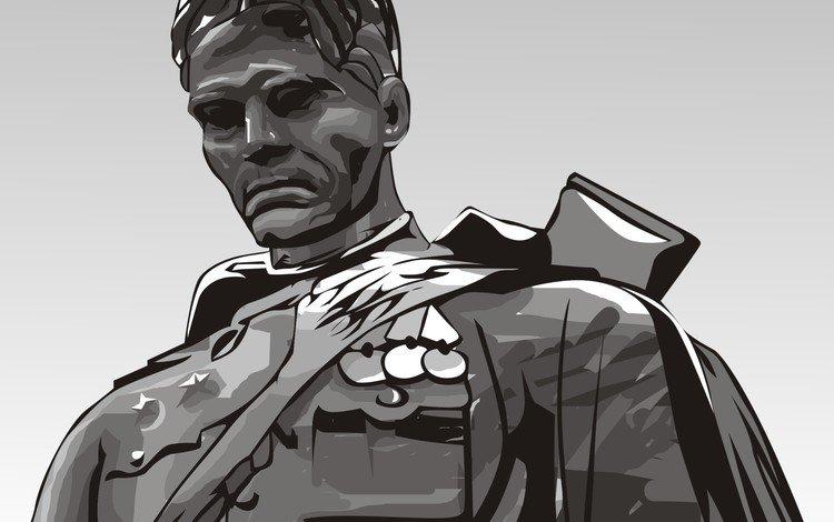 вектор, солдат, памятник, 9 мая, vector, soldiers, monument, may 9