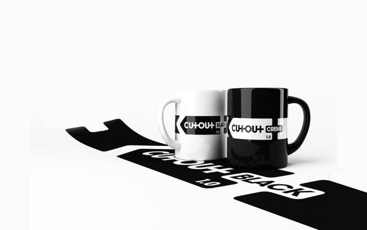 кофе, черно-белая, чашки, coffee, black and white, cup