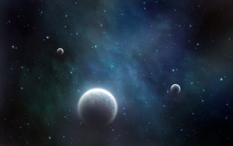 космос, звезды, сияние, планеты, space, stars, lights, planet