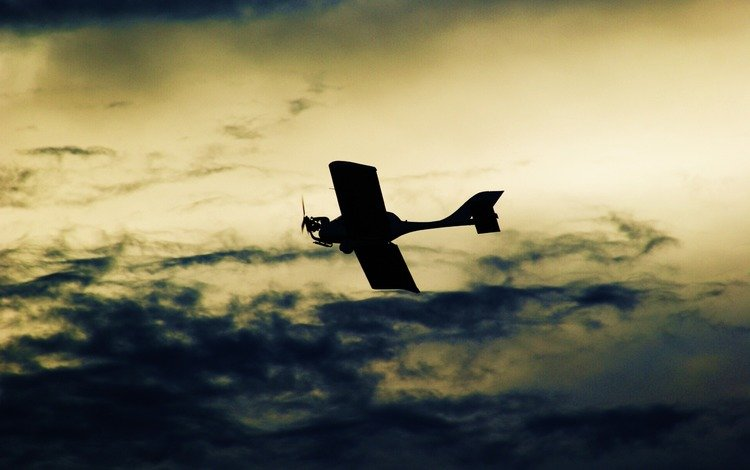 the sky, clouds, wallpaper, color, the plane, photo, background, flight, picture