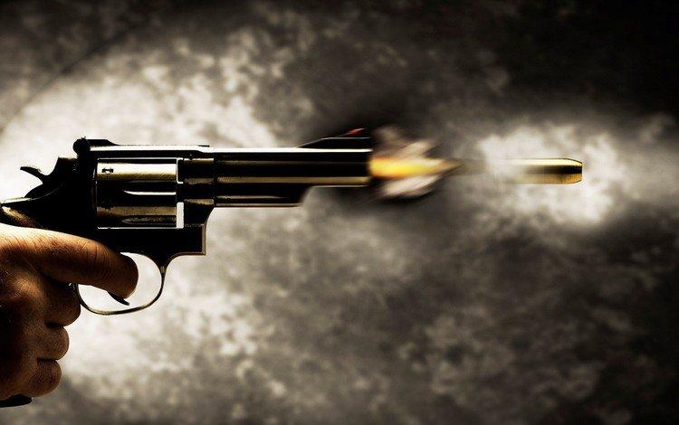 пистолет, выстрел, пуля, gun, shot, bullet