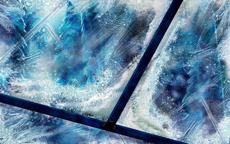 новый год, узоры, стекло, new year, patterns, glass
