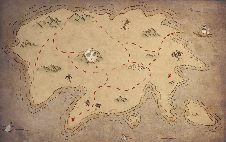 карта, остров, клад, сокровище, map, island, treasure