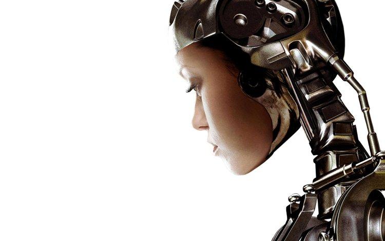 обои, девушка, фон, робот, wallpaper, girl, background, robot