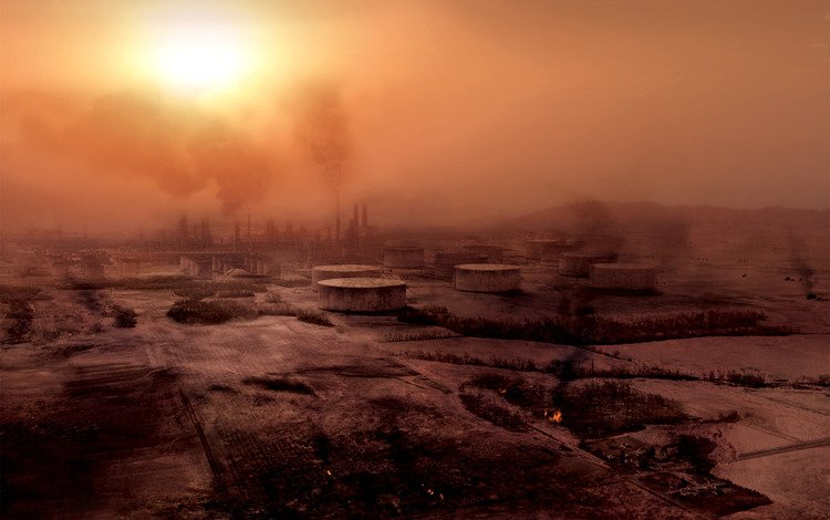 солнце, смог, разрушение, заводы, промзона, the sun, could, destruction, plants, industrial zone