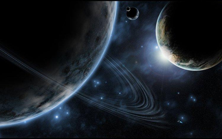 звезды, планеты, кольцо, stars, planet, ring