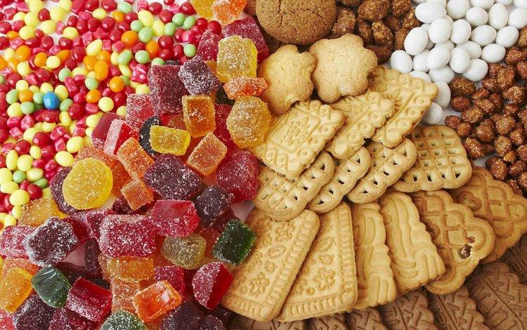 печенье, мармелад, cookies, marmalade