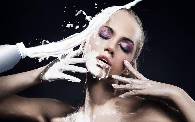 молоко, да, в, рожу, milk, yes, in, face