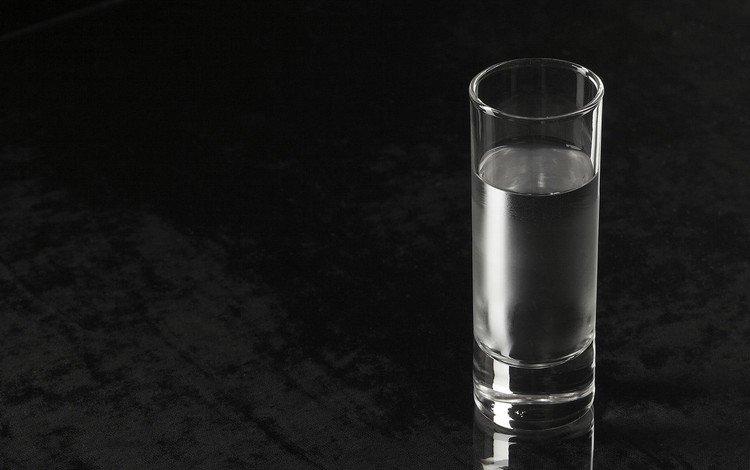 вода, черный фон, хайбол, water, black background, highball