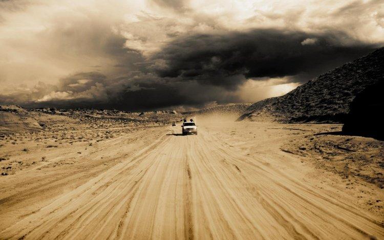пейзаж, пустыня, ситуация, авто, машины, пески, deserts, автомобили, landscape, desert, the situation, auto, machine, sands, cars