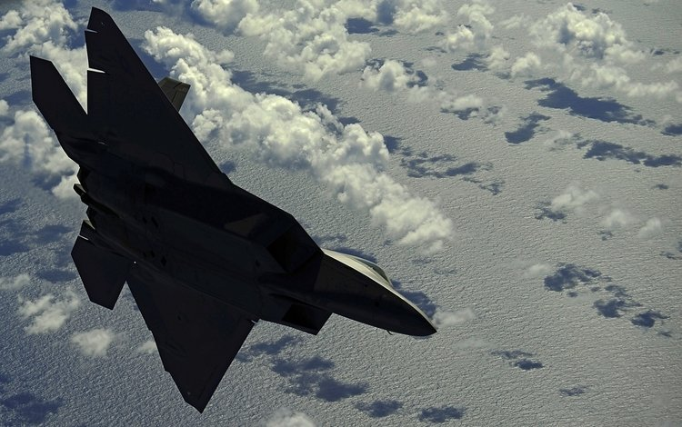 облака, истребитель, скорость, clouds, fighter, speed