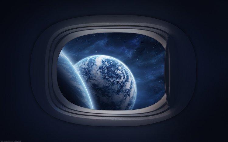 окно, маленькое, видно космос, window, small, you can see the space