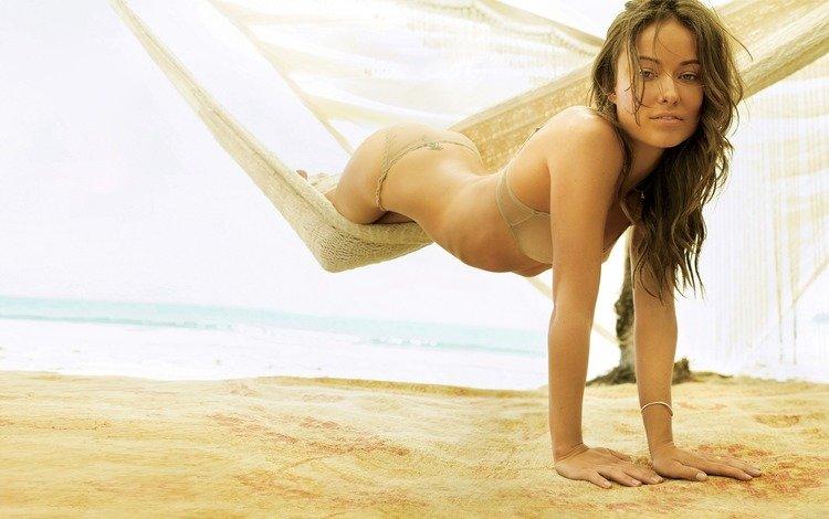 beach, hammock, light, olivia wilde